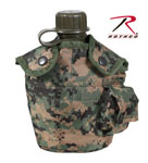 Rothco 565 GIStyle Canteen Cover - Woodland Digital Camo