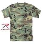 Rothco 5668 5668 Rothco Long Length T-Shirt / Woodland Camo