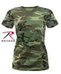 Rothco 5678 Rothco Women's Longer Woodland Camo T-Shirt