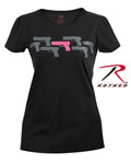 Rothco 5684 Women's Black ''pink Guns'' T-Shirt