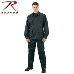 Rothco 5821 5923 Rothco Black B.D.U. Pants, 100% Cotton Rip-Stop