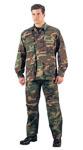 Rothco 5944 5944 Rothco Woodland Camouflage B.D.U. Shirt - Rip-Stop