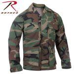 Rothco 5945 5945 5944 Rothco Woodland Camouflage B.D.U. Shirt - Rip-Stop