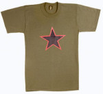 Rothco 60304 60304 Red China Star Olive Drab T-Shirt