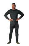 Rothco 6118 6118 Rothco Polypro Underwear Crew Neck Top - Black