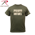 Rothco 61361 61361 Rothco Proud Infidel T-Shirt - Olive Drab