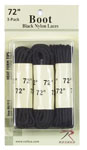 "Rothco 61913 61913 Rothco Boot Laces - Black / 72"" - 3 Pack"