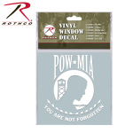Rothco 62001 Rothco White Vinyl Window Decal - Pow / Mia