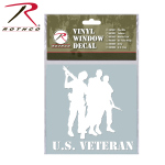 Rothco 62002 Rothco White Vinyl Window Decal - Veteran