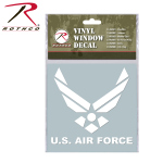 Rothco 62004 Rothco White Vinyl Window Decal - Air Force Wing