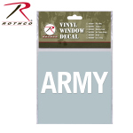 Rothco 62005 Rothco White Vinyl Window Decal - Army
