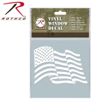 Rothco 62006 Rothco White Vinyl Window Decal - U.S. Flag