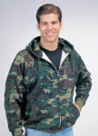 Rothco 6264 6264 Rothco Thermal Lined Zipper Hooded Sweatshirt - Woodland Camo