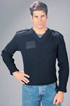 Rothco 6343 Gov't Navy Blue Wool V-Neck Sweater