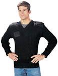 Rothco 6344 Rothco Wool V-Neck Sweater - Black