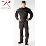 Rothco 6351 6351 Rothco &Trade; 2-Pocket Black Tactical B.D.U. Shirts