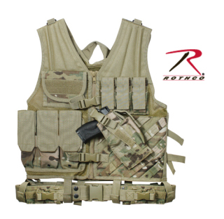 Rothco 6384 Multicam Tactical Cross Draw Vest
