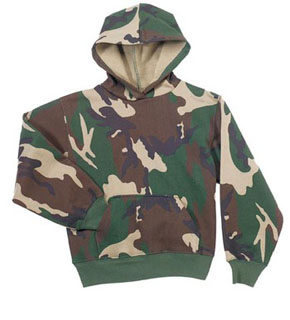 4524018a Rothco 6490 Rothco Kids Pullover Hooded Sweatshirt - Woodland Camo. Loading  zoom