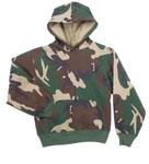 Rothco 6490 Rothco Kids Pullover Hooded Sweatshirt - Woodland Camo