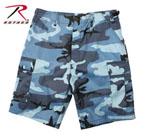 Rothco 65218 65218 Rothco BDU Short Poly/Cotton - Sky Blue Camo