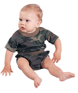 Rothco 6563 Infant Woodland Camouflage T-Shirt & Diaper Cover