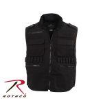 Rothco 6574 Black Deluxe Safari Outback Vest