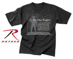 Rothco 66137 66137 Rothco T-Shirt / It's Our Right - Black