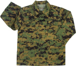 Rothco 66215 Rothco Kids Military BDU Shirt - Woodland Digital Camo