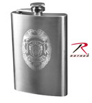 Rothco 662 Police Engraved Flask