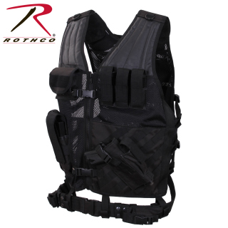 Rothco 66491 Rothco Tactical Cross Draw Vest - Black