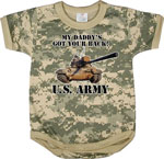 Rothco 67056 Infant Army Digital Camo ''got Your Back'' One Piece Bodysuit