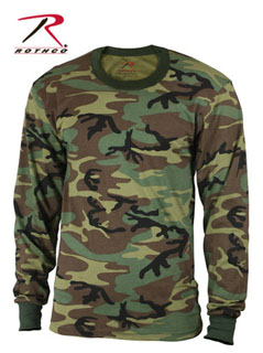 Rothco 6705 Woodland Camo Long Sleeve Shirt