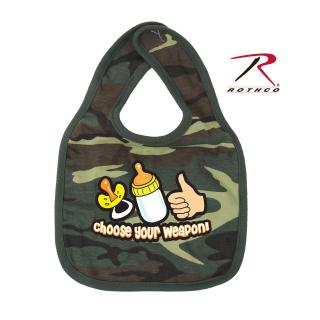 Rothco 67078 Rothco Infant Bib/Choose Your Weapon-Wdland Camo