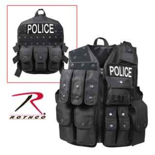 Rothco 6785 Rothco Black Tactial Raid Vest