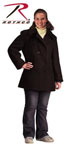 Rothco 7038 Rothco Women's Navy Type Wool Peacoat - Black