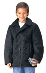 Rothco 7068 Rothco Kids U.S. Navy Type Wool Peacoat - Black