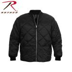 Rothco 7231 7231 Black Diamond Quilted Flight Jacket