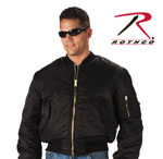 Rothco 7324 Rothco Ma-1 Flight Jacket - Black