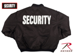 Rothco 7357 Rothco Ma-1 Flight Jacket / Security - Black