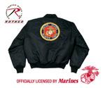 Rothco 7460 Rothco Ma-1 Flight Jacket / Marine Emblem - Black