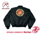 Rothco 7461 7461 Rothco Ma-1 Flight Jacket / Marine Emblem - Black