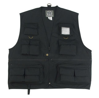 Rothco 7531 Uncle Milty Black Travel Vest