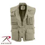 Rothco 7574 7574 Khaki Deluxe Safari Outback Vest