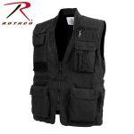 Rothco 7576 7576 Black Deluxe Safari Outback Vest