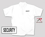 Rothco 7694 White Security Printed Golf Shirt
