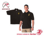 Rothco 7697 7697 Black Military Embroidered Golf Shirts