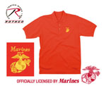 Rothco 7783 Red Marines Golf Shirt w/Gold Embroidery