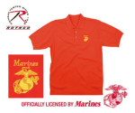 Rothco 7784 7784 Red Marines Golf Shirt w/Gold Embroidery