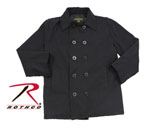 Rothco 7877 Rothco Vintage Cotton Peacoat - Black