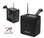 Rothco 80004 Solar / Wind Up Radio - Black